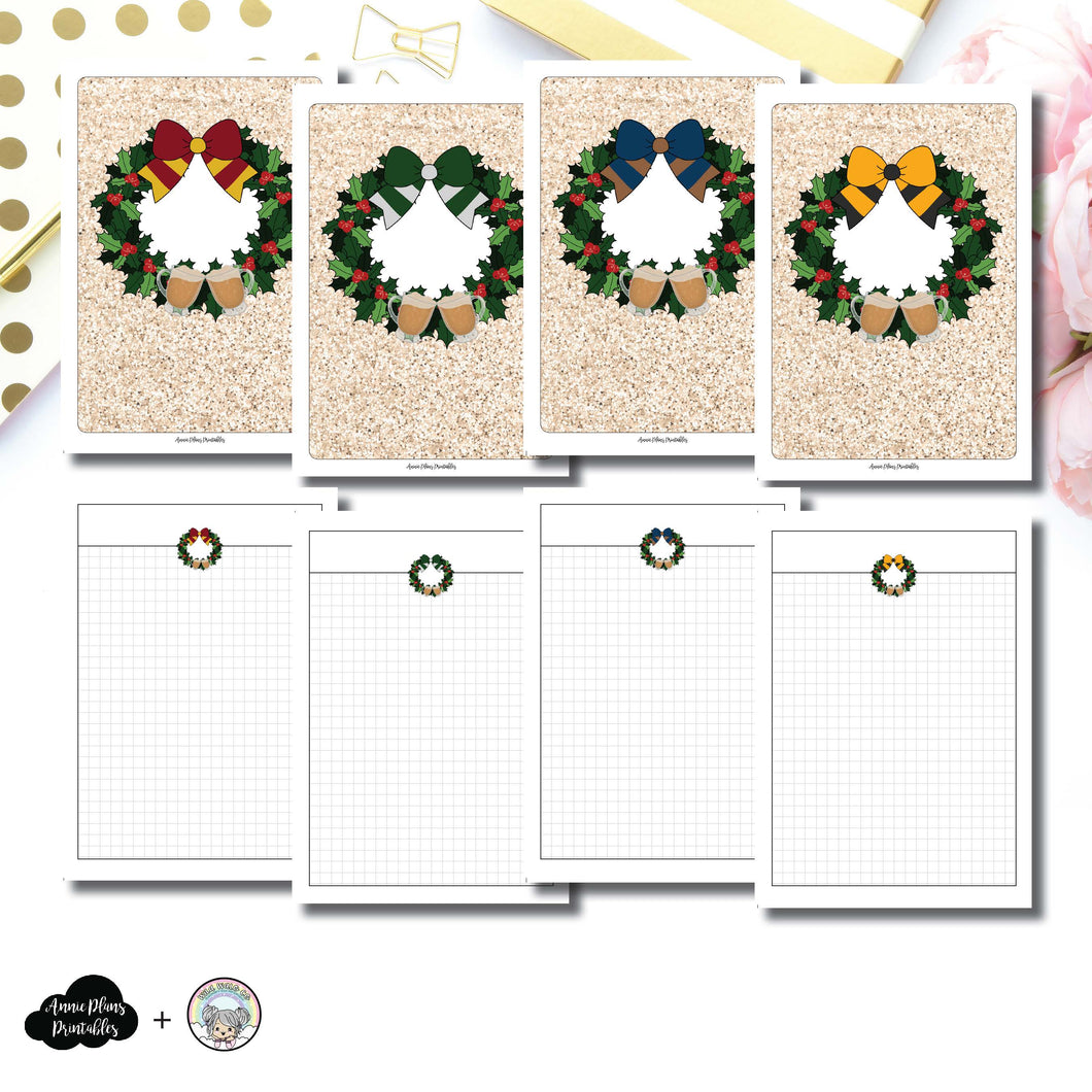 B6 TN Size | LIMITED EDITION: Cheer & Butterbeer Grid Printable Insert ©
