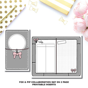 Cahier TN Size | Day on 2 Page Fox & Pip Collaboration Printable Insert ©