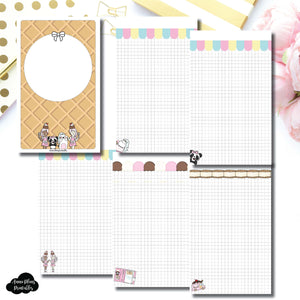 Cahier TN Size | Sundae Notes Collaboration Printable Insert ©