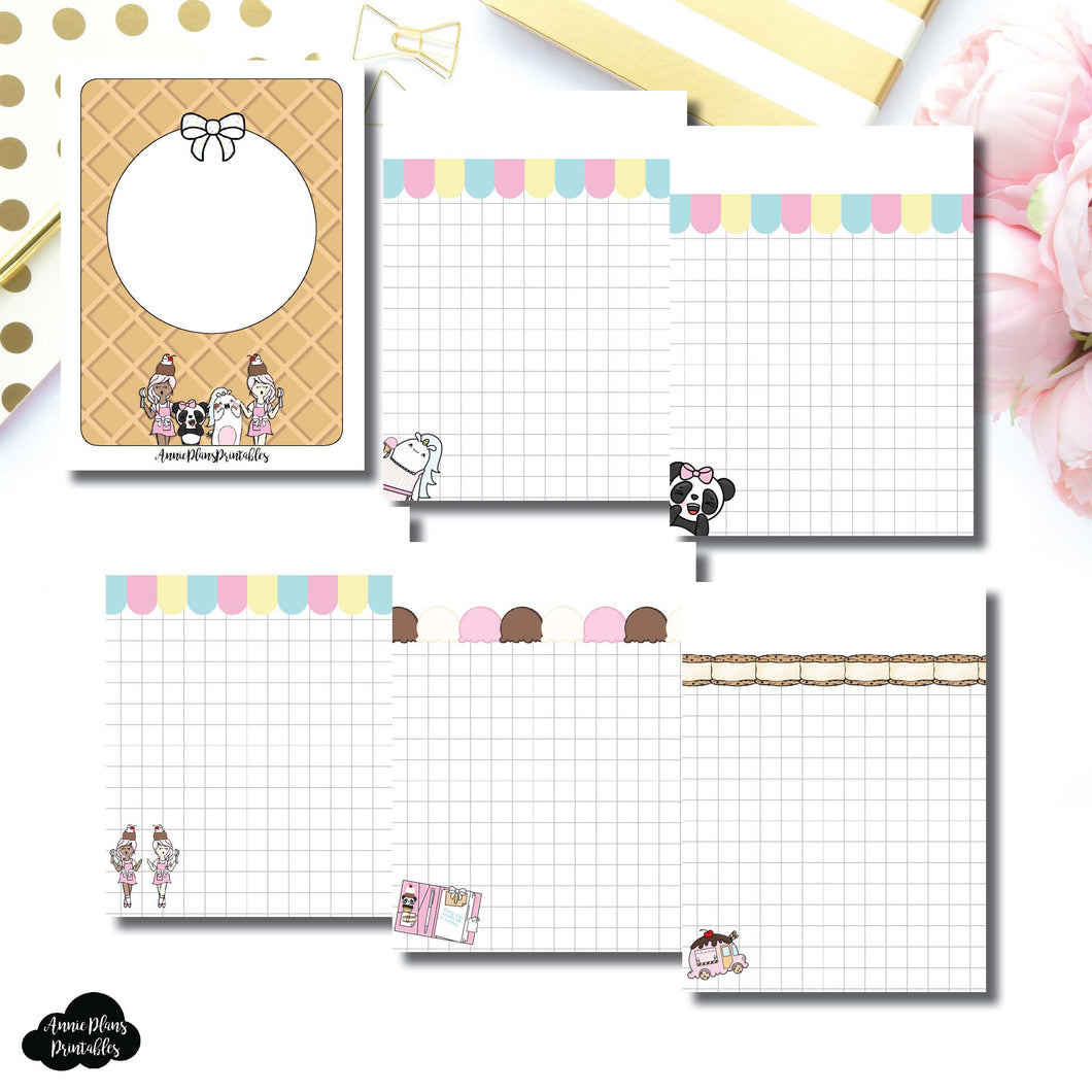 Micro TN Size | Sundae Notes Collaboration Printable Insert ©