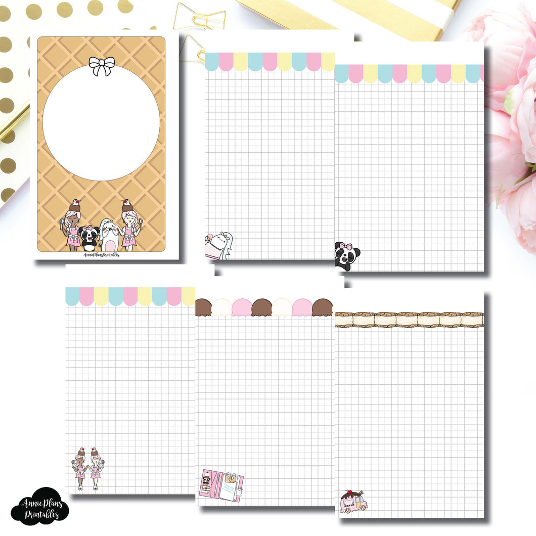 Mini HP Size | Sundae Notes Collaboration Printable Insert ©
