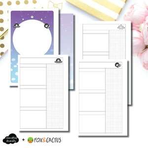 Mini HP Size | Fox & Cactus Collaboration Undated Daily Printable Insert ©