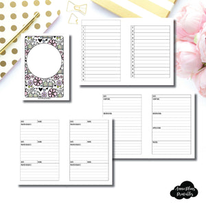 A6 Rings Size | Devotional Bundle Printable Inserts ©