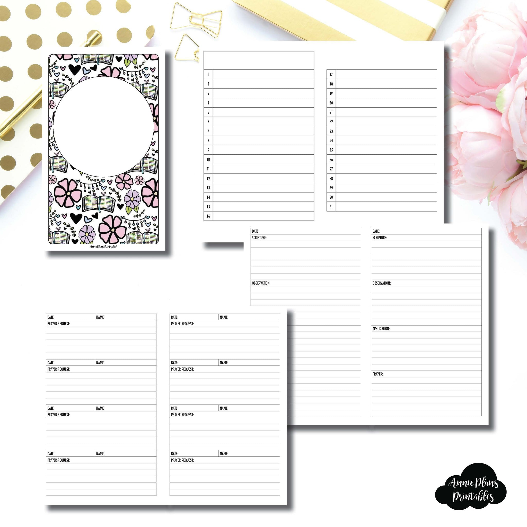 picture about Annie Plans Printables titled Cahier TN Sizing Devotional Package deal Printable Inserts ©