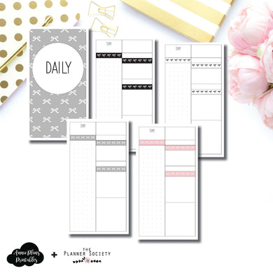Personal TN Size | Limited Edition TPS Bow Bundle Collaboration Printable Inserts ©