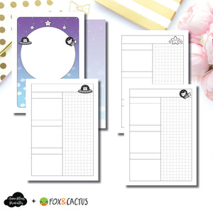Passport TN Size | Fox & Cactus Collaboration Undated Daily Printable Insert ©