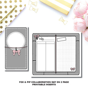 Personal TN Size | Day on 2 Page Fox & Pip Collaboration Printable Insert ©