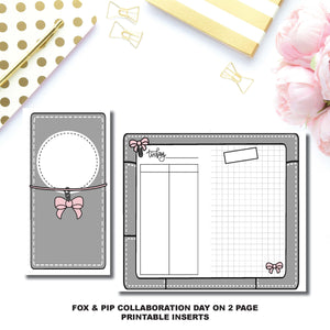 Personal Rings Size | Day on 2 Page Fox & Pip Collaboration Printable Insert ©