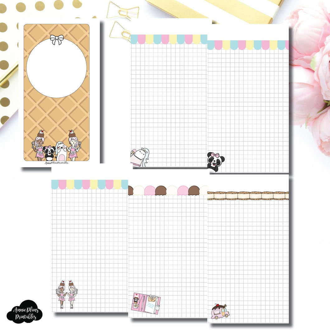 Personal Rings Size | Sundae Notes Collaboration Printable Insert ©