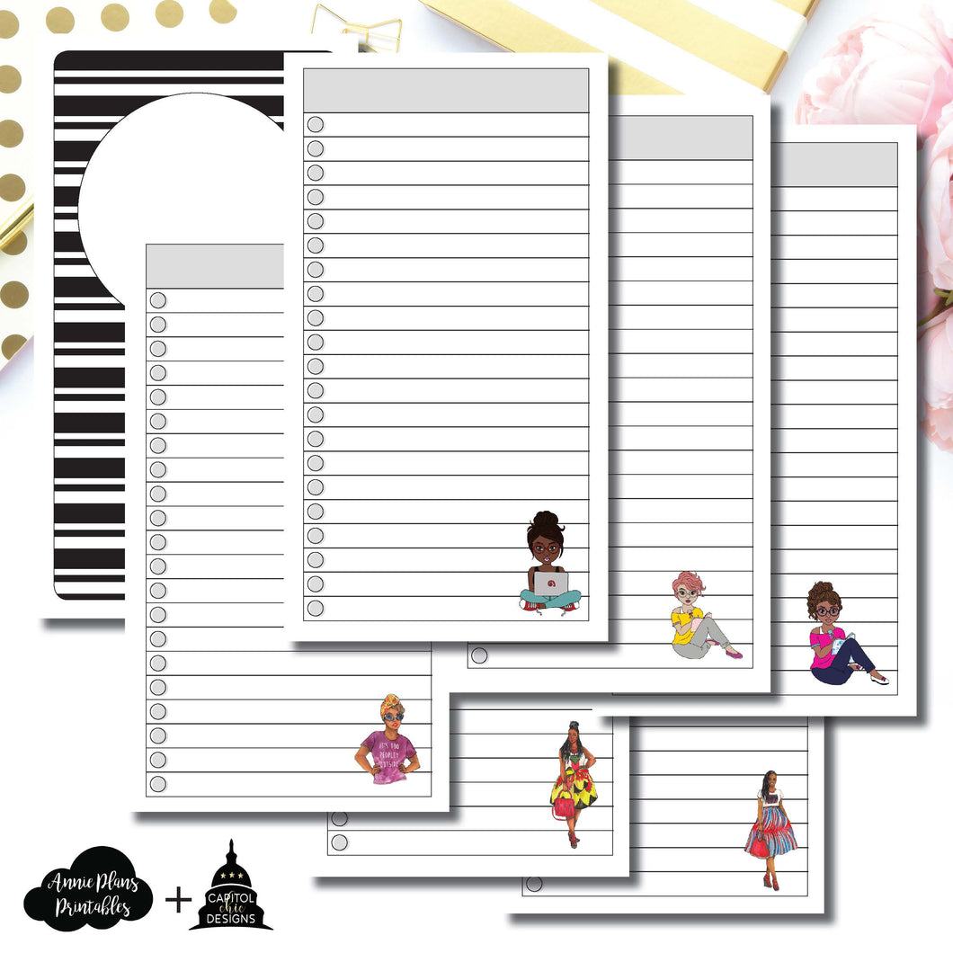 Personal TN Size | Capital Chic Designs Collaboration LIST Printable Insert ©