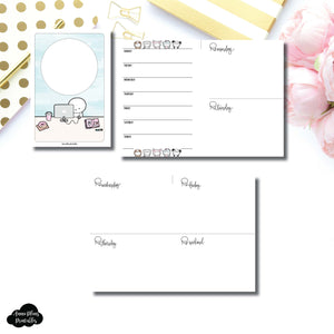 Personal Wide Rings Size | TheCoffeeMonsterzCo Collaboration Undated Week on 4 Pages Printable Insert ©