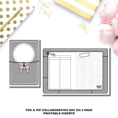 FC Rings Size | Day on 2 Page Fox & Pip Collaboration Printable Insert ©