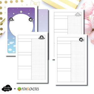 Pocket TN Size | Fox & Cactus Collaboration Undated Daily Printable Insert ©