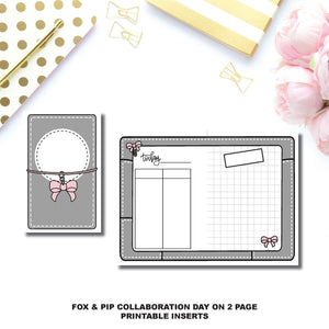Pocket Rings Size | Day on 2 Page Fox & Pip Collaboration Printable Insert ©