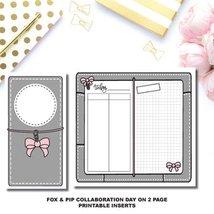 Standard TN Size | Day on 2 Page Fox & Pip Collaboration Printable Insert ©