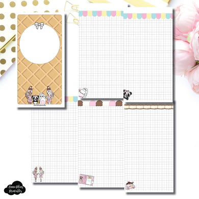 Standard TN Size | Sundae Notes Collaboration Printable Insert ©