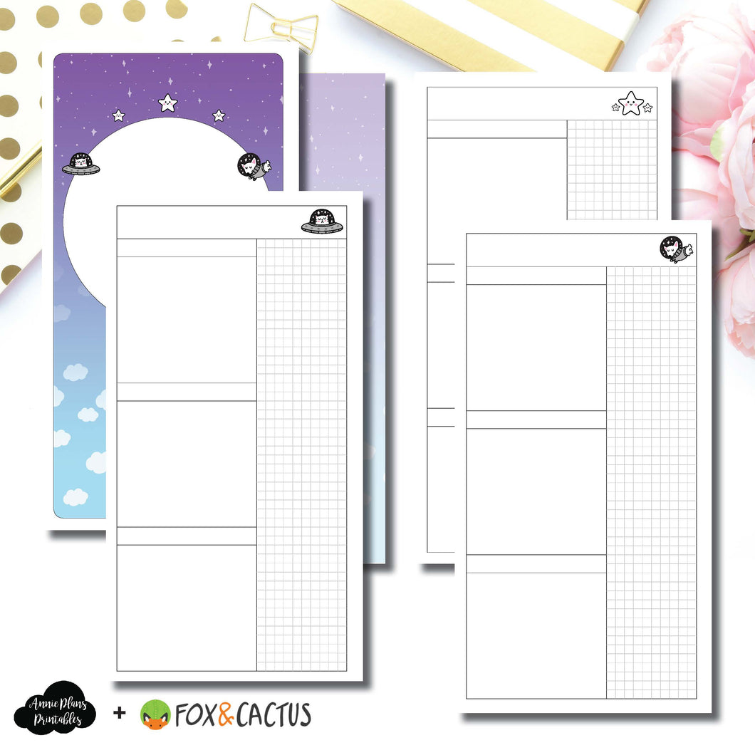Standard TN Size | Fox & Cactus Collaboration Undated Daily Printable Insert ©