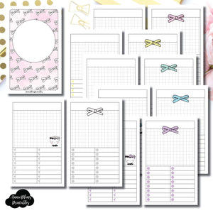 Pocket TN Size | Undated Day on a Page or Project HappieScrappie Collaboration Printable Insert ©