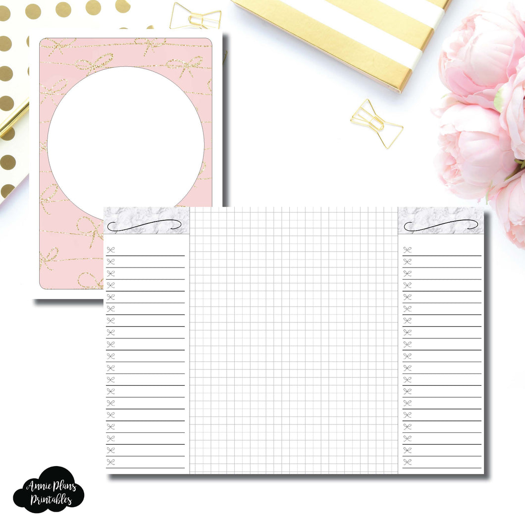 B6 TN Size | List + Grid Collaboration Printable Insert