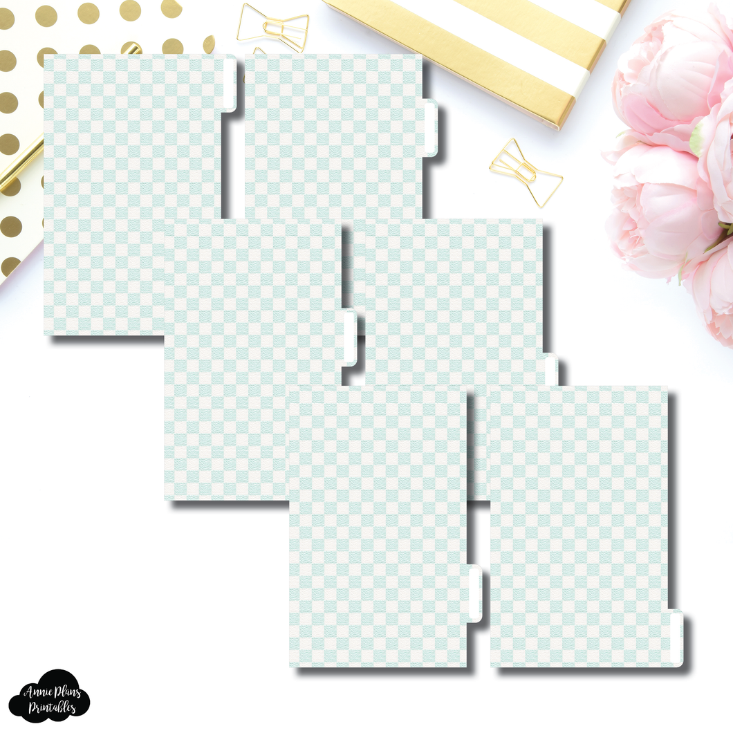 FC Ring Dividers | Luxe Mint 6 Side Tab Printable Dividers