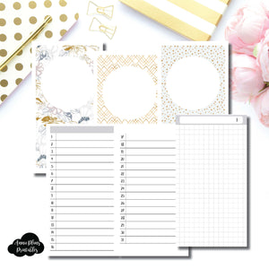 Personal Rings Size  | UNDATED DAILY GRID Printable Insert ©
