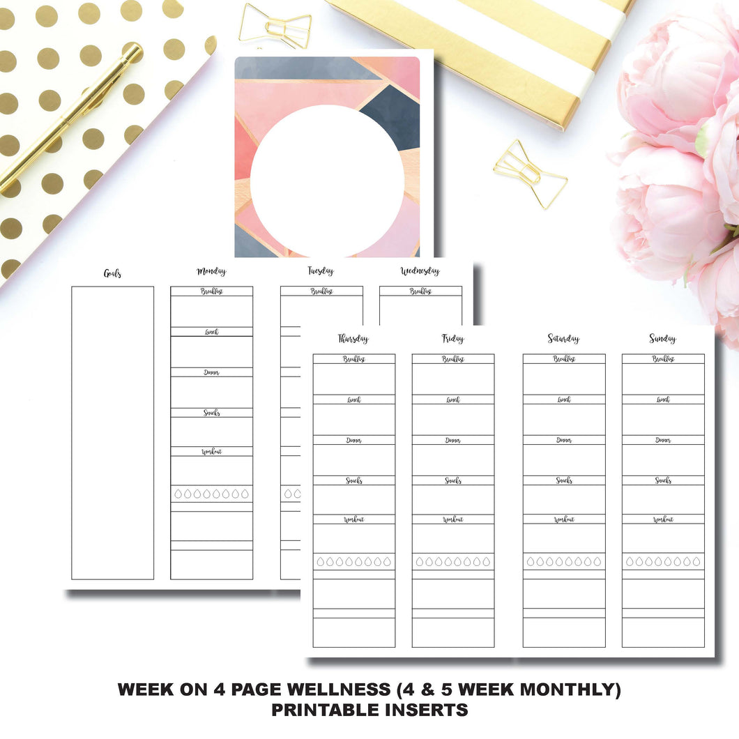Cahier TN Size | Wellness Tracker Printable Insert ©