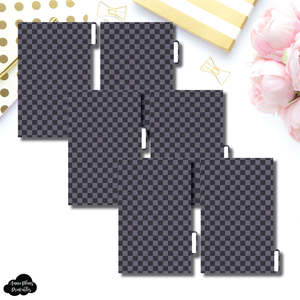 FC Ring Dividers | Luxe Black 6 Side Tab Printable Dividers