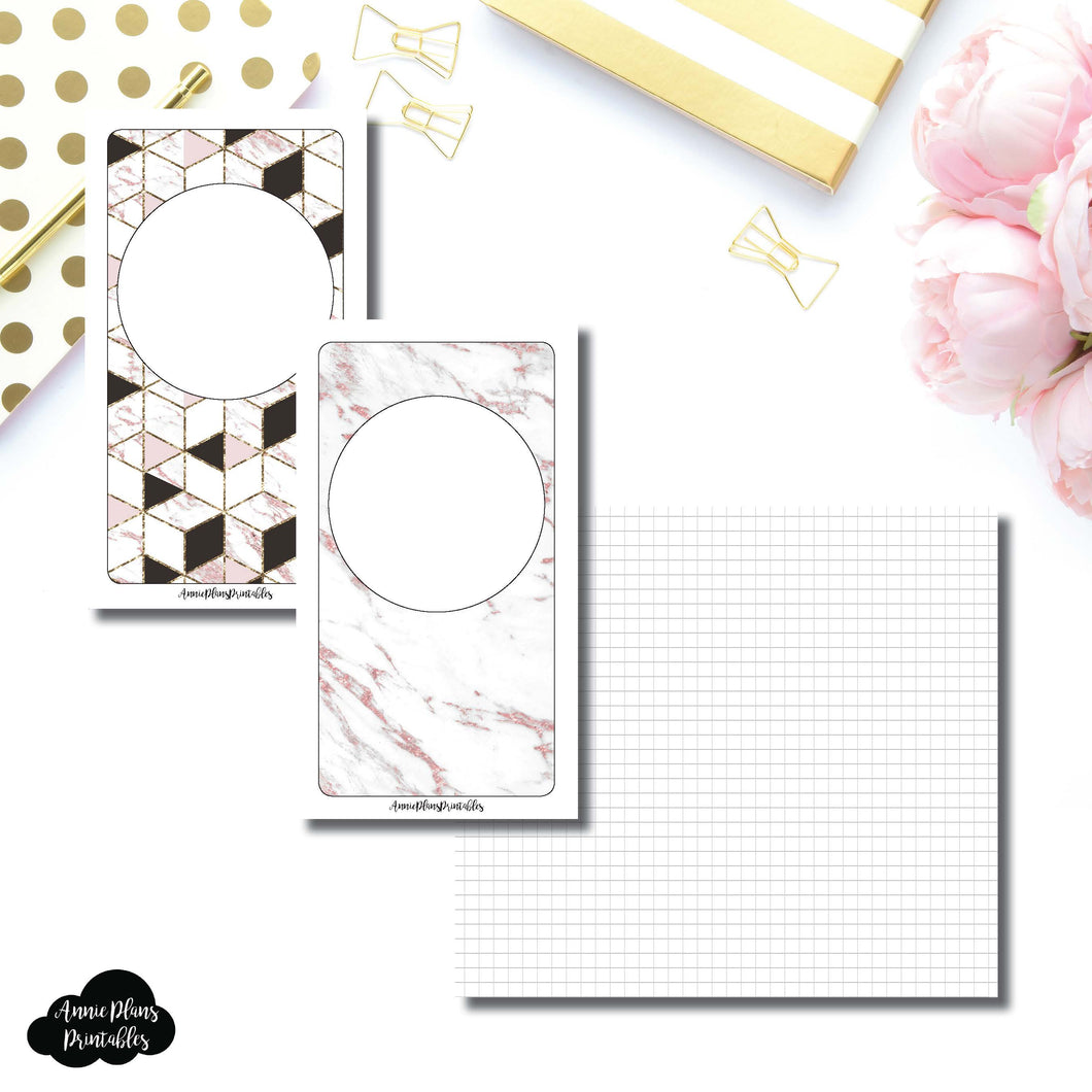 Personal TN Size | Plain GRID Printable Inserts ©