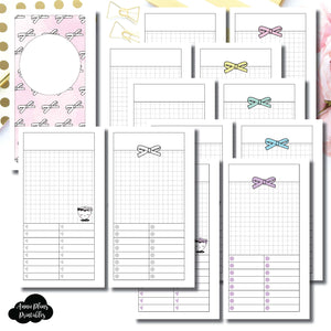 H Weeks Size | Undated Day on a Page or Project HappieScrappie Collaboration Printable Insert ©