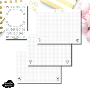 Half Letter Rings Size | theCoffeeMonsterzco & Sparkly Paper Co Collab Grid Printable Insert ©