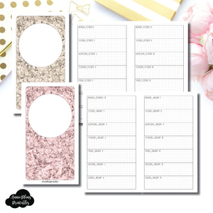 Personal TN Size | OCT 2018 - DEC 2019 Week on 1 Page Layout (Monday Start) Printable Insert ©