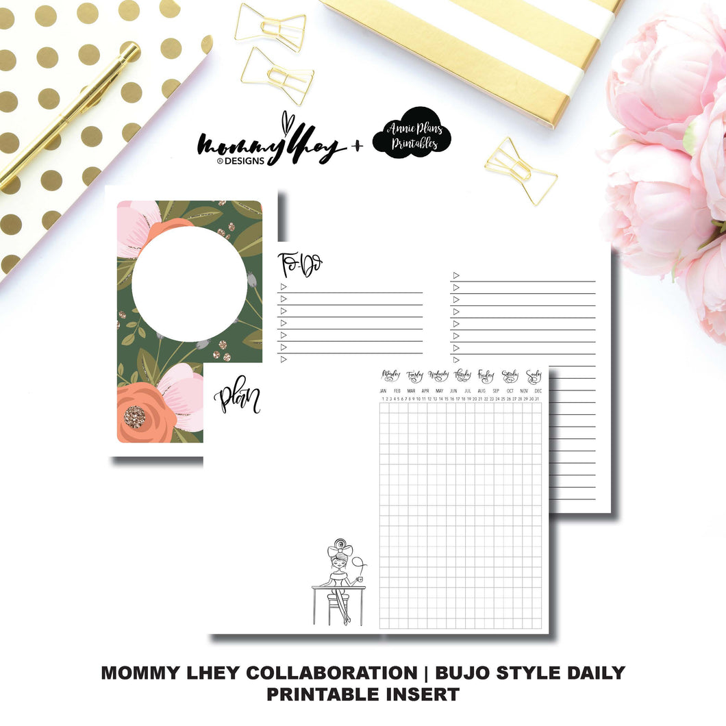 STANDARD TN Size | Mommy Lhey Collaboration Bujo Style Printable Insert©