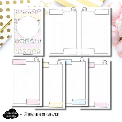 B6 TN Size | TheCoffeeMonsterzCo Washi Dot Grid Printable Insert ©