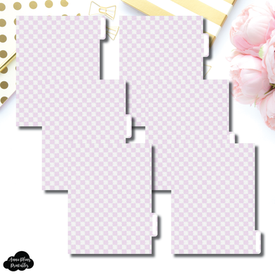 B6 Ring Dividers | Luxe Lilac 6 Side Tab Printable Dividers
