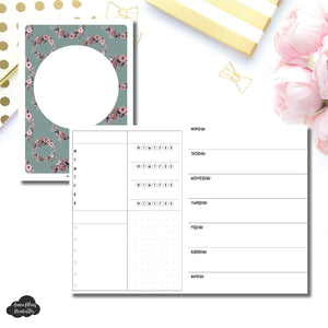 B6 TN Size | Undated Horizontal Week on 2 Page Layout Printable Insert ©