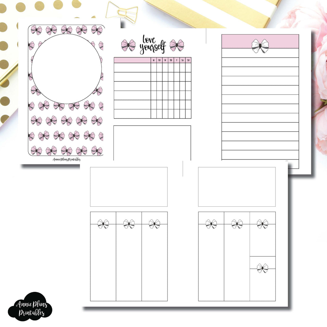 Pocket Rings Size | Undated Week on 2 Weeks Shell's Scribbles Collaboration Printable Insert ©