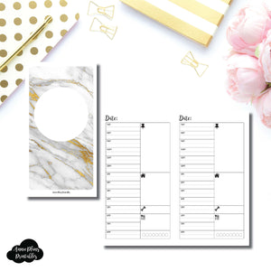 Personal TN Size  | UNDATED (TIMED) Daily Printable Insert for Travelers Notebooks ©
