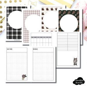 A6 Rings Size | COZY Undated Daily Printable Insert ©