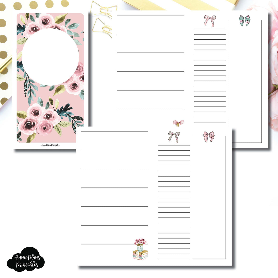 PERSONAL TN Size | Undated Horizontal Week on 2 Page Collaboration Printable Insert ©