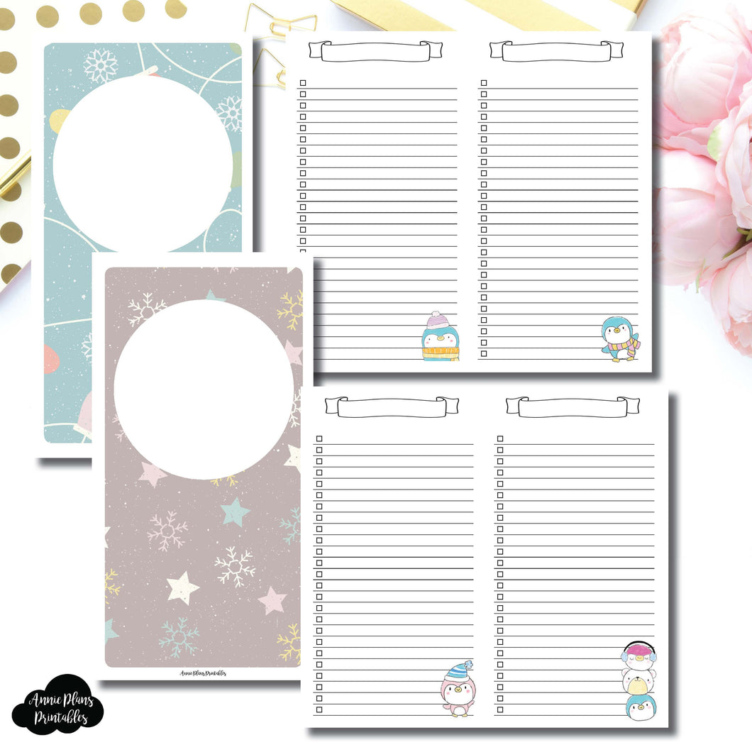 Standard TN SIZE | Happie Scrappie Collaboration Lists Printable Insert ©
