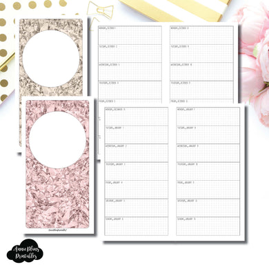 Standard TN Size | OCT 2018 - DEC 2019 Week on 1 Page Layout (Monday Start) Printable Insert ©
