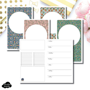Cahier TN Size | Blank Covers + Undated Week on 2 Page Collaboration Printable Insert ©