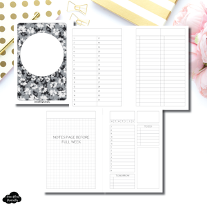 A6 Rings Size | Full Month Undated Structured Daily + Additional Covers Printable Insert ©