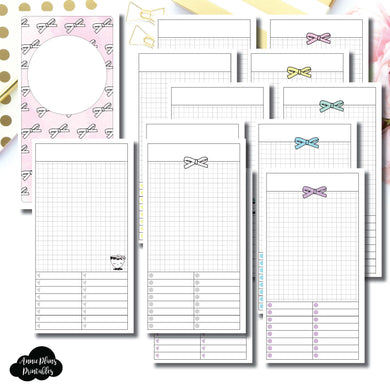 Standard TN Size | Undated Day on a Page or Project HappieScrappie Collaboration Printable Insert ©