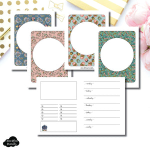 Micro TN Size | Blank Covers + Undated Week on 2 Page Collaboration Printable Insert ©