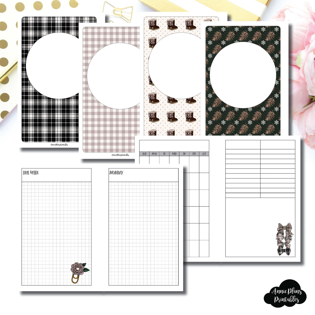 Mini HP Size | COZY Undated Daily Printable Insert ©