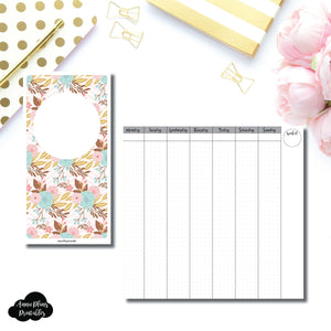 Standard TN Size | Vertical Week on 2 Pages Printable Insert for Travelers Notebooks ©