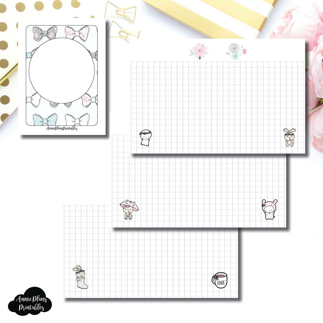 Micro TN Size | theCoffeeMonsterzco & Sparkly Paper Co Collab Grid Printable Insert ©
