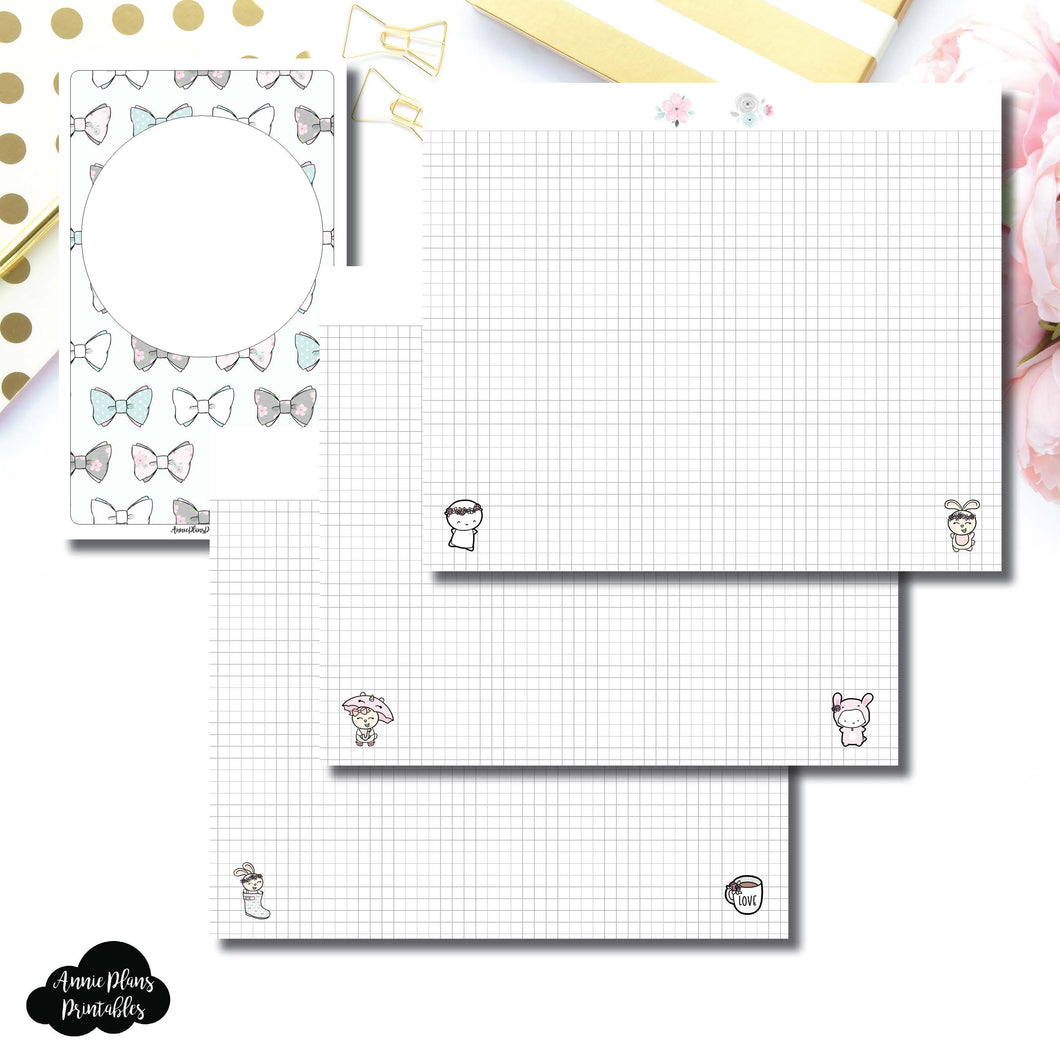 Cahier TN Size | theCoffeeMonsterzco & Sparkly Paper Co Collab Grid Printable Insert ©