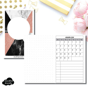 Pocket TN Size | Monthly Dated Important Dates with Dot Grid Printable Insert ©